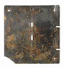 AN 18TH CENTURY OR EARLIER BRONZE SQUARE SUNDIAL