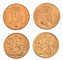 TWO EDWARD VII GOLD SOVEREIGNS, dated 1906 and 19