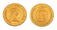 AN 1806 GEORGE III HALF GUINEA with seventh laure