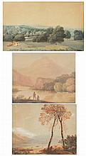 AN 18TH/19TH CENTURY ENGLISH SCHOOL, THREE LANDSC