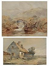 19TH CENTURY ENGLISH SCHOOL, TWO LANDSCAPE WATERC
