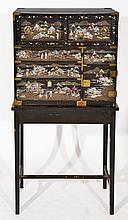A LATE 19TH CENTURY BLACK LACQUERED CHINESE TABLE