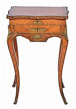 A FRENCH LOUIS XV STYLE WALNUT AND KINGWOOD VENEE