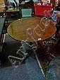 A 19TH CENTURY MAHOGANY TILT-TOP TRIPOD TABLE on