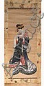 AFTER UTAMARO A gouache study of a