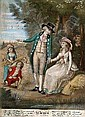ROBERT SAYER (PUBLISHER), 'Winter', 'Spring', 'Summer' and 'Autumn', mezzotints, a set of four, hand coloured, published c. 1786, 14in x 10in. (4) (see front cover illustration)