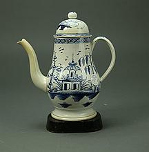 Liverpool Porcelain Lighthouse Coffepot Circa 1770