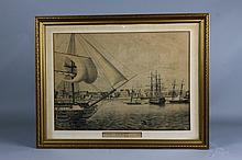 Early 19th century Print of New York 1790