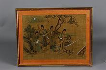 Vintage Chinese Silk Painting