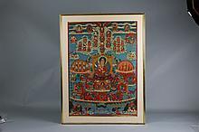 Antique Chinese Tibetan Thangka