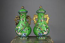 Fine Quality Chinese Cloisonne and Bronze Vases