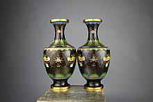 Fine Quality Chinese Cloisonne Dragon Vases