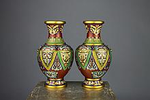Fine Quality Chinese Cloisonne Mask Design Vases