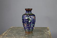 Japanese Meiji Period Cloisonne Foil Design Vase