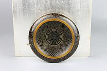 Chinese Cloisonne Black and Gold Bowl