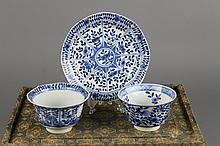 Three Chinese Kangxi Blue and White Pieces