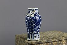 Chinese Qing Dynasty 19th Century B/W Vase