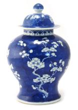 A BLUE AND WHITE PORCELAIN PLUM BLOSSOM JAR - QING DYNASTY