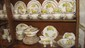 Stunning and elegant set of fine china!!! . NOT A COMPLETE SET OF 8 AS SOME PIECES ARE MISSING, Over 100 pieces including 3 sizes of plates, cups, saucers, soup bowls, tea set, berry dishes, assorted service pieces.
