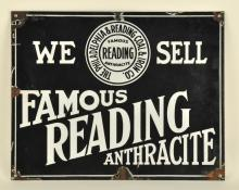 Famous Reading Anthracite Porcelain Sign