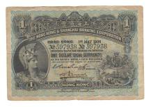Hong Kong - P155a $1 1st May 1906 Hong Kong Shanghai Banking Corporation