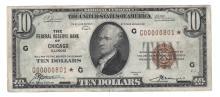 Fr. 1860-G* - 1929 $10 FRBN Star