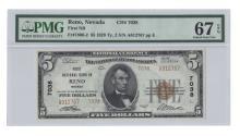 Reno, NV - Ch. 7038 - 1929 $5 Type2