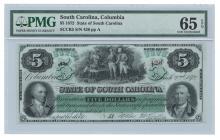 1872 $5 State of South Carolina