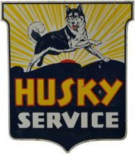 Double Sided Husky Service Sign