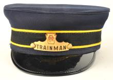 PRR Trainman Railroad Cap with Badge