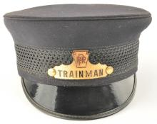 PRR Trainman's Railroad Cap with Badge