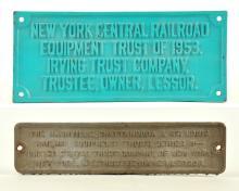 Pair of Railroad Equipment Trust Plates