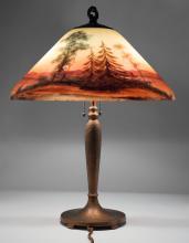 Handel Sunset Orange Lamp #7103