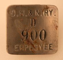 DM&N Railway Employee Badge