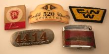 Group of Railroad Badges and Misc. Smalls