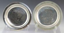 LOT OF 2 NORMAN ROCKWELL STERLING SILVER PLATES