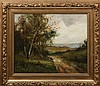 E. MORISOT LANDSCAPE OIL ON CANVAS PAINTING