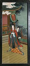 CHINESE REVERSE PAINTED WALL PANEL