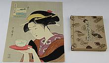 JAPANESE WOODBLOCK PRINT & WE JAPANESE BOOK