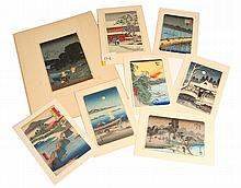(8) MIXED JAPANESE WOODBLOCK PRINTS