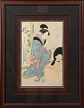 JAPANESE UKIYO-E WOODBOCK PRINT COURTESAN PORTRAIT