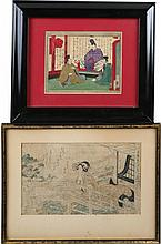 (2) FRAMED JAPANESE WOODBLOCK PRINTS