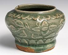 YAOZHOU CARVED BOWL CELADON GLAZE NORTHERN SONG
