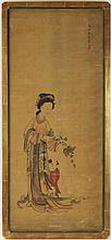 EARLY 20TH C JAPANESE PAINTING ON SILK