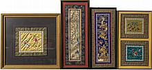 (4) FRAMED CHINESE EMBROIDERY PIECES