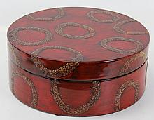 LARGE ROUND BEIJING LACQUER BOX