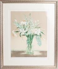 GILBERT MICHAUD SUMMER BOUQUET LITHOGRAPH