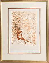 SALVADOR DALI NAPOLEON &THE ANGEL ETCHING SIGNED