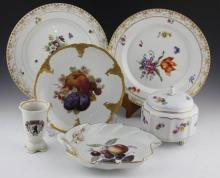 (6) DECORATIVE PORCELAIN SERVING PIECES
