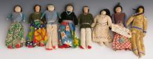 (8) SMALL HANDMADE NATIVE AMERICAN DOLLS